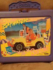 Barbie Baywatch Plastic Lunch Box by Thermos 1995 Mattel purple