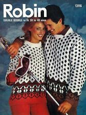 Robin Men's Sweaters/Clothes Crocheting & Knitting Patterns