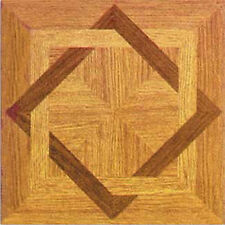 Wood Square Vinyl Floor Tiles 20 Pcs Self Adhesive Flooring - Actual 12'' x 12''