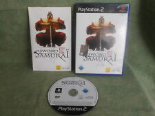 PS2 PLAY STATION 2  SWORD OF THE SAMURAI