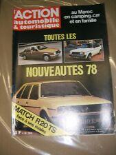 L'action automobile et touristique N°204 1977 R20TS 2 litres Sport auto Maroc