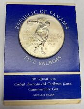 *Panama 5 Balboas Official 1970 Central American and Caribbean Games Sealed Coin