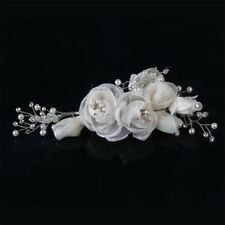 Bridal Hair Ornament Off White Accessory  Roses, Pearls And Crystals