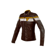 GIACCA PELLE MOTO DAINESE BLACKJACK LADY LEATHER MARRONE Tg 46 - OFFERTA ON SALE