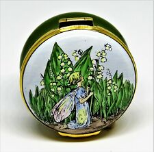 Crummles Enamel Box -Vintage Lily Of The Valley Flower Fairy- Cicely Mary Barker