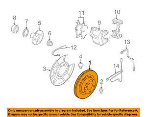 BMW OEM 07-12 335i Rear Brake-Rotor 34216855004