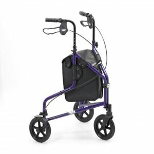 Days 240L Lightweight Aluminium Tri Wheel Walker - Purple