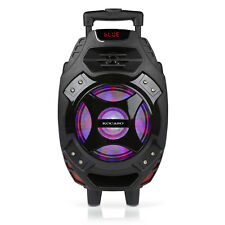 "Portable 18"" Rechargable Bluetooth Party Speaker DJ/PA System with LED Lights"