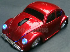3D VW Beetle Car Wireless Mouse 2.4Ghz USB Optical Computer Mice Bug beatles Red