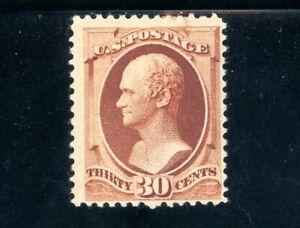 USAstamps Unused FVF US Serie of 1888 Hamilton Scott 217 OG MHR