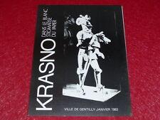 [Coll.R-JEAN MOULIN ART XXe] KRASNO / CATALOGUE EXPO EO 1983 Texte R.-J Moulin
