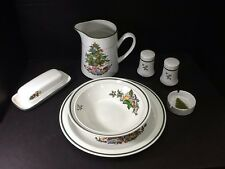 VINTAGE HOLIDAY STONEWARE MADE IN JAPAN-7 PIECE SERVING SET
