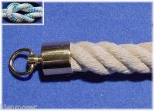 SEILENDKAPPE 30mm Messing für Handlaufseil, Absperrseil, Treppenseil, mit Ring