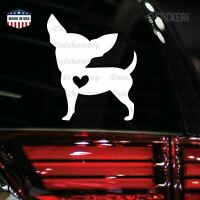 I LOVE MY CHIHUAHUA CAR decal sticker [ vinyl accent for cars laptop journal]