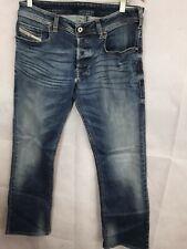Ladies Diesel Jeans Blue Rinse Denim Stretch Size W32/32 Bootcut