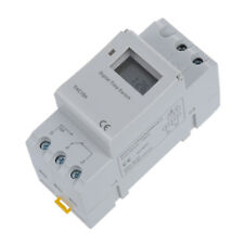 DIN Rail Time Relay Switch Digital LCD Power Programmable Timer DC 12V 16A E8U0