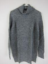 Express Marled Extreme Hi-Lo Hem Turtleneck Sweater - Womens Medium - Grey - NWT