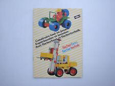 Catalogue ancien jouets jeux de construction Fischertechnik Fisherform 1980's