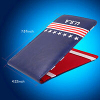 Red Blue Book Golf Scorecard and Yardage Holder USA American Flag
