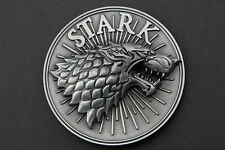 GAME OF THRONES STARK EMBLEM METAL BELT BUCKLE HOUSE HBO DIREWOLF