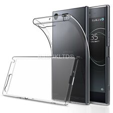 2 X Clear Slim Gel Case and Glass Screen Protector for Sony Xperia XZ Premium