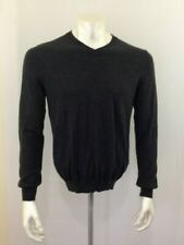 Joseph Abboud Size Large 100% Merino Wool Men's Gray V Neck Long Sleeve Sweater