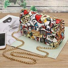 Fashion Designer Graffiti Women Crossbody Bag Love Style Chain Luxury Handbags