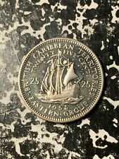 1955 Eastern Caribbean Territories 25 Cents Lot#Q6461-B Proof!