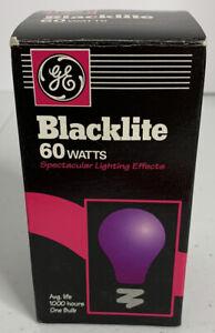 Blacklight Bulb Vintage GE Blacklite 60 Watts / 120 V NEW OLD STOCK (Korea) LOOK