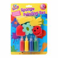 Kids Paint Sponge Painting Set Childrens Finger Paints Toddler Art & Craft Set