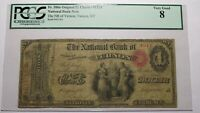 $1 1865 Vernon New York NY National Currency Bank Note Bill Ch. #1264 Ace!