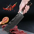 7'' Cleaver Knife Stainless Steel Japanese Damascus Pattern Kitchen Chef Knives