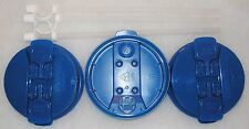 3-Pearl Blue Replacement Lids and 3-Straws for the 32 oz Hospital mugs