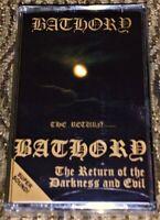 BATHORY The Return... NEW & Sealed Cassette Tape Rare Black Metal