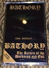 3 BATHORY Cassette Tapes. Bathory, Under The Sign & The Return.. NEW & Sealed
