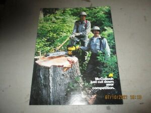 McCulloch Chainsaw Sales Brochure Brochure Catalog Original Dealer Dated 12/1982