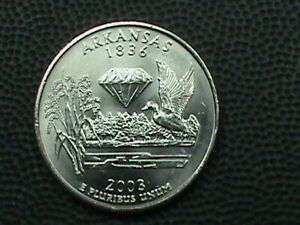 UNITED STATES 25 Cents 2003 P UNC ARKANSAS