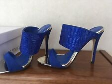 Ideal Ladies shoes Blue Heels Sandals Size 3/36