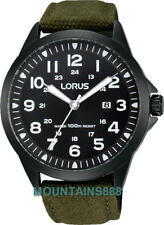 LORUS Watch, Stainless Steel, Screw Back, Date, WR100, Mens, RH929GX-9