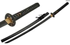 Japanese Samurai Sword Black Stealth Carbon Steel Blade Serpent Katana, Scabbard