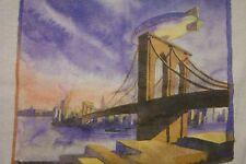 "Garrison Keillor ""American Radio Company"" 1989 T-shirt New York Brooklyn Bridge"