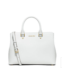 60cedc44e01a New Authentic MICHAEL Michael Kors Savannah Large Saffiano Leather Satchel  White