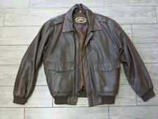 vintage ORVIS brown LEATHER bomber MEDIUM jacket A2 G1 flight flyers