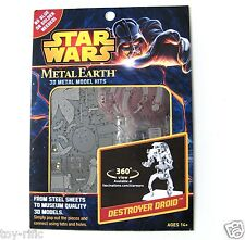 METAL Earth Star Wars-DESTROYER DROID - 3D METAL MODEL KIT-NUOVISSIMA SIGILLATA!