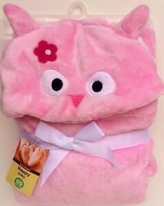 Baby Blanket Cute Pink Tweety Soft -Animal-Baby-Hooded-Bath-Towel-Blanket