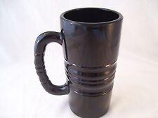 Vintage Tiara Indiana Glass Large Latte Mug BLACK Kahlua Tall Coffee Heavy Thick