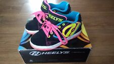 Heelys Propel 2.0 Black Neon Multi UK Size 1 Junior Xmas Gift Roller Shoes