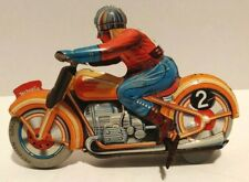 Technofix Wind Up Tin Lithographed G.E. 255 Motorcycle