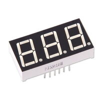 """3-Digit 0.56"""" 7-Segment Colour Red LED Display Common Anode Arduino Module"""