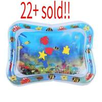 Inflatable Water Play Mat Infants Baby Toddlers Kid Fun Game Tummy Time Play